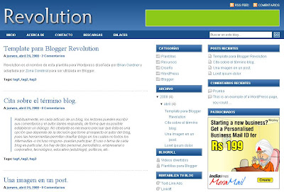 Revolution Blogger Theme