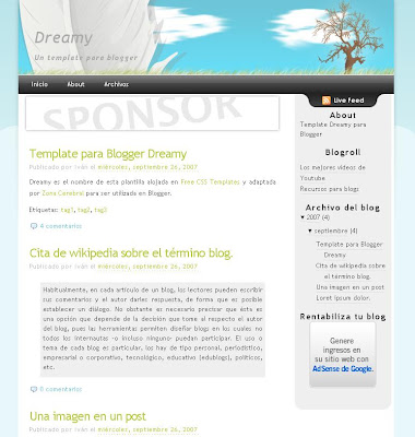 Dreamy Blogger Theme