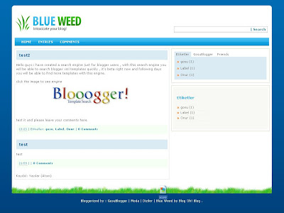 Blue Weed Blogger Theme