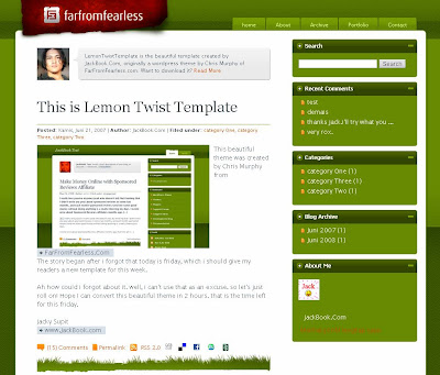 Lemon Twist Blogger Template