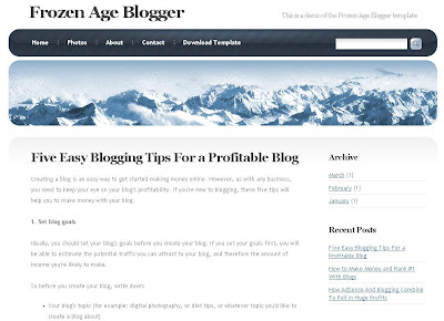 Frozen Age Blogger Template