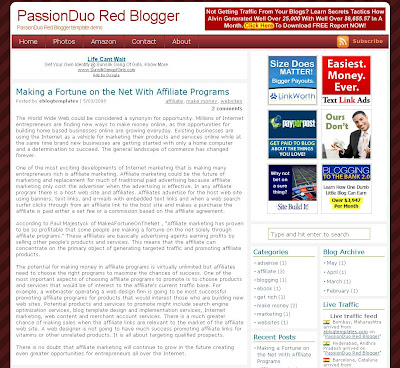PassionDuo Red Template