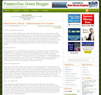 PassionDuo Green Template