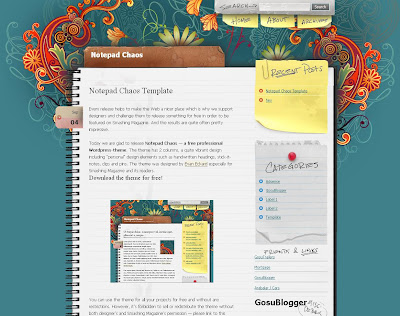 The Notepad Chaos Blogger Template