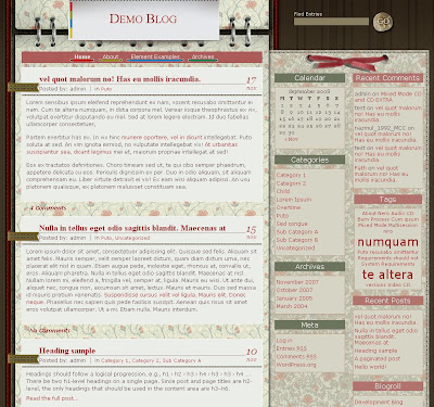 Notepad Blogger Template