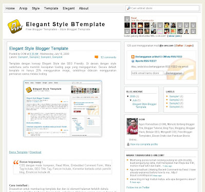 Elegant Style Social Blogger Skin