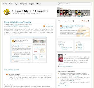 Theme Elegant Style Blogger Templates