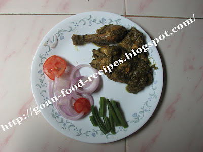 Chicken cafreal with salad