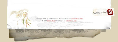 The Japan Style Blogger Template Footer