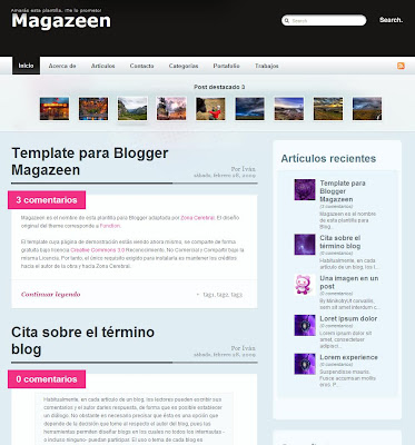 Magazeen Blogger Template