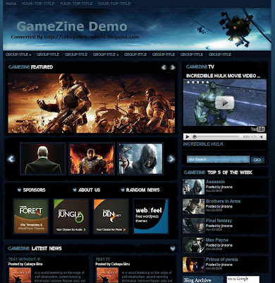 Gamezine : The Gaming Blogger Template!