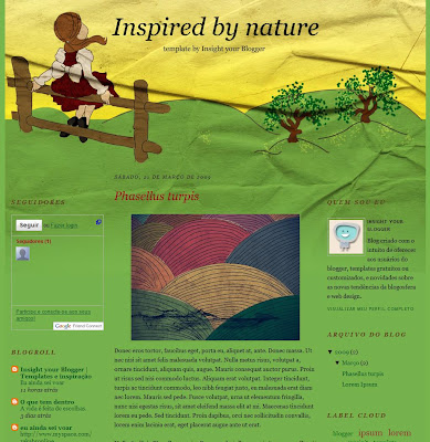 Inspired by nature blogspot theme