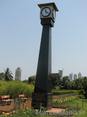 clock tower at the center of the gardens