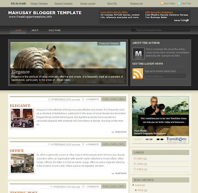 Mahusay Blogger Template