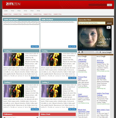 Light Zitizen Blogger Template