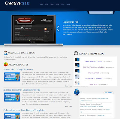 Creative Press Blogger Template