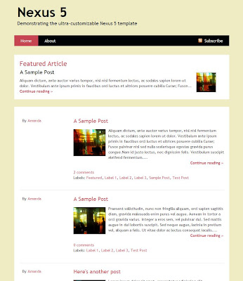 Nexus 5 Blogger Template