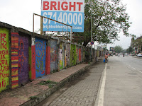 Paintings on the wall along tulsi pipe road
