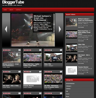 who has created the first video template for blogger, blogger tube!