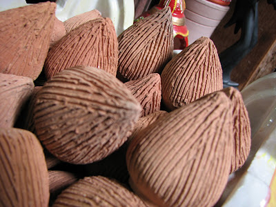 clay coconuts or modaks