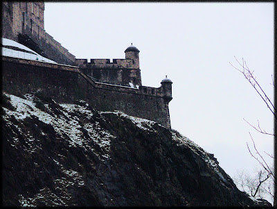 Turrets On Edinburgh Castle