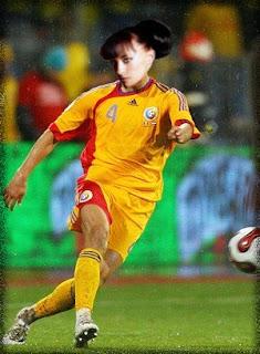 Cheeky footballer