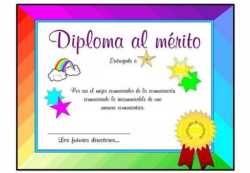 Diplomas de honor al merito para niños - Imagui