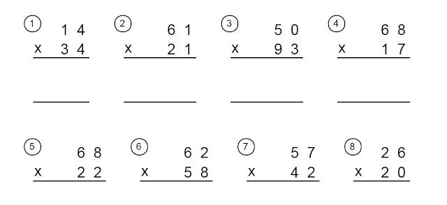 Multiplicaciones para imprimir de tres cifras - Imagui
