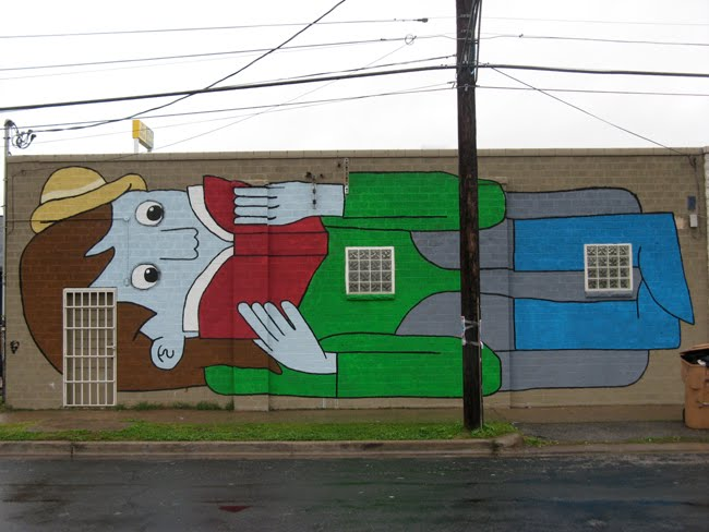 Aron nels steinke austin murals for Daniel johnston mural