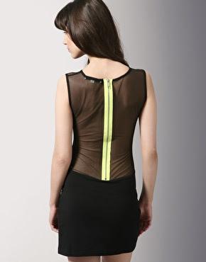 asos mesh back dress