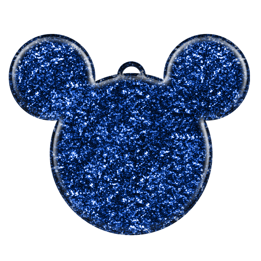 Glitter Mickey Mouse Head