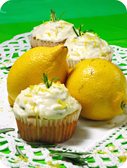 Lemon Rosemary Cupcakes [photo]