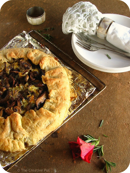 Mushroom & Blue Cheese Galette [photo]