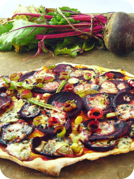 Beetroot & Blue Cheese Pizza [photo]