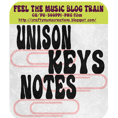 """Feel the Music"" Blog Train by Craftymumz Creations -CLIPS FTM_freebielements_RSW"