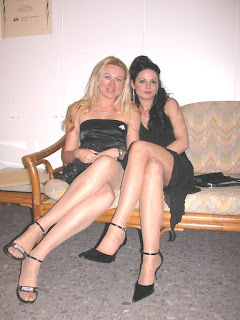 The thousands legs crossed heels pantyhose suggest the