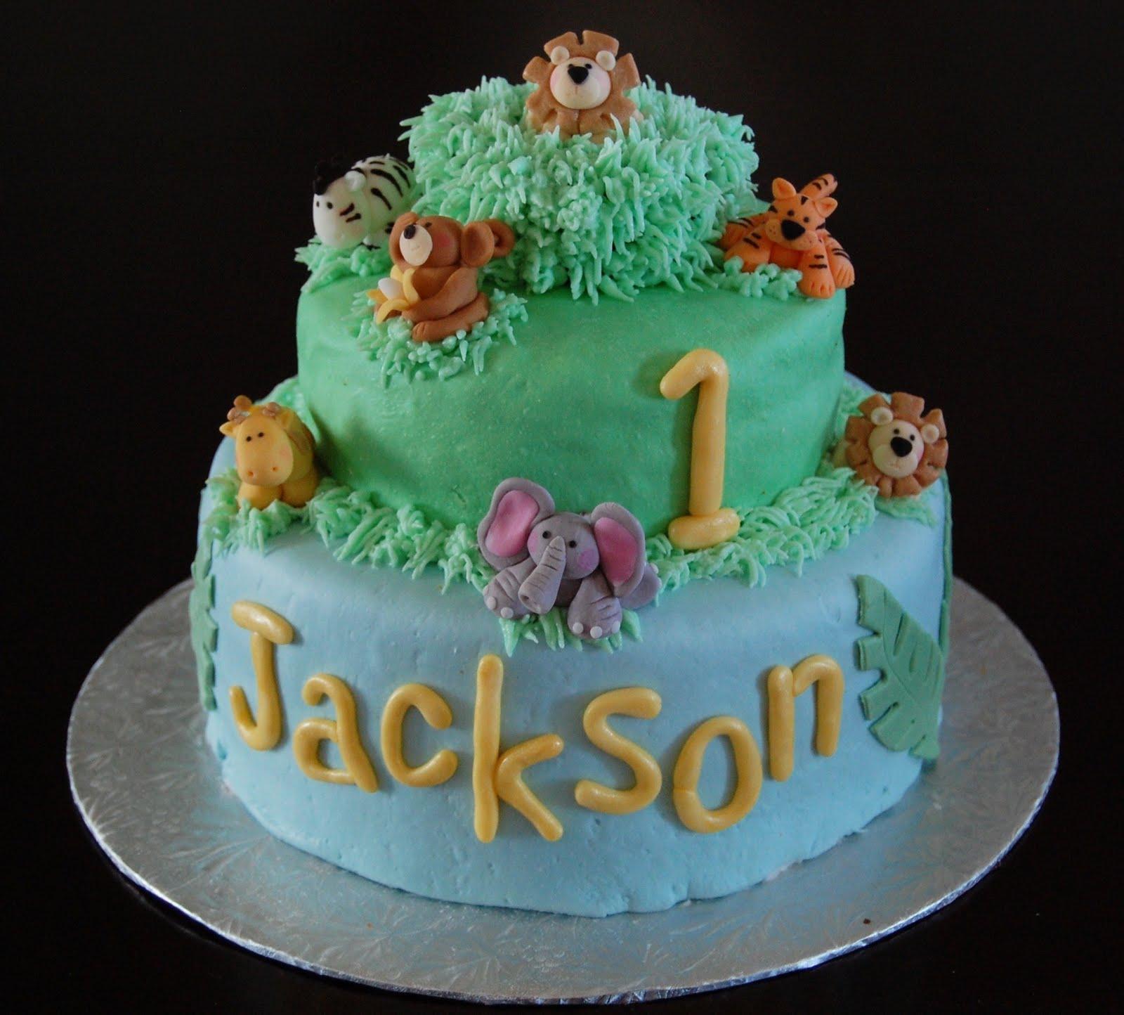 Jungle Cake Decorations : Kiss My Cake: Jackson s Jungle Cake