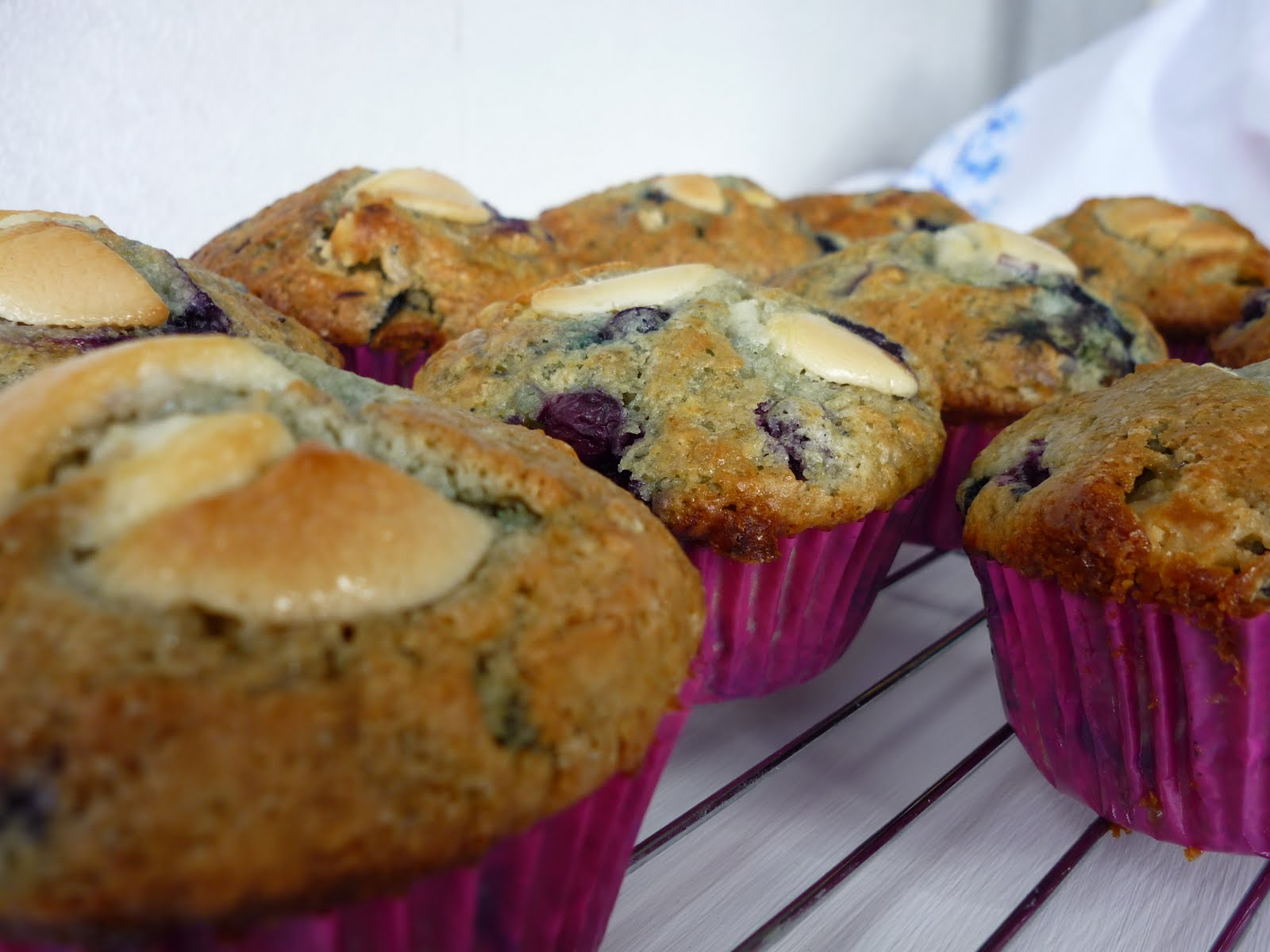 Blueberry And White Chocolate Muffins Recipe — Dishmaps