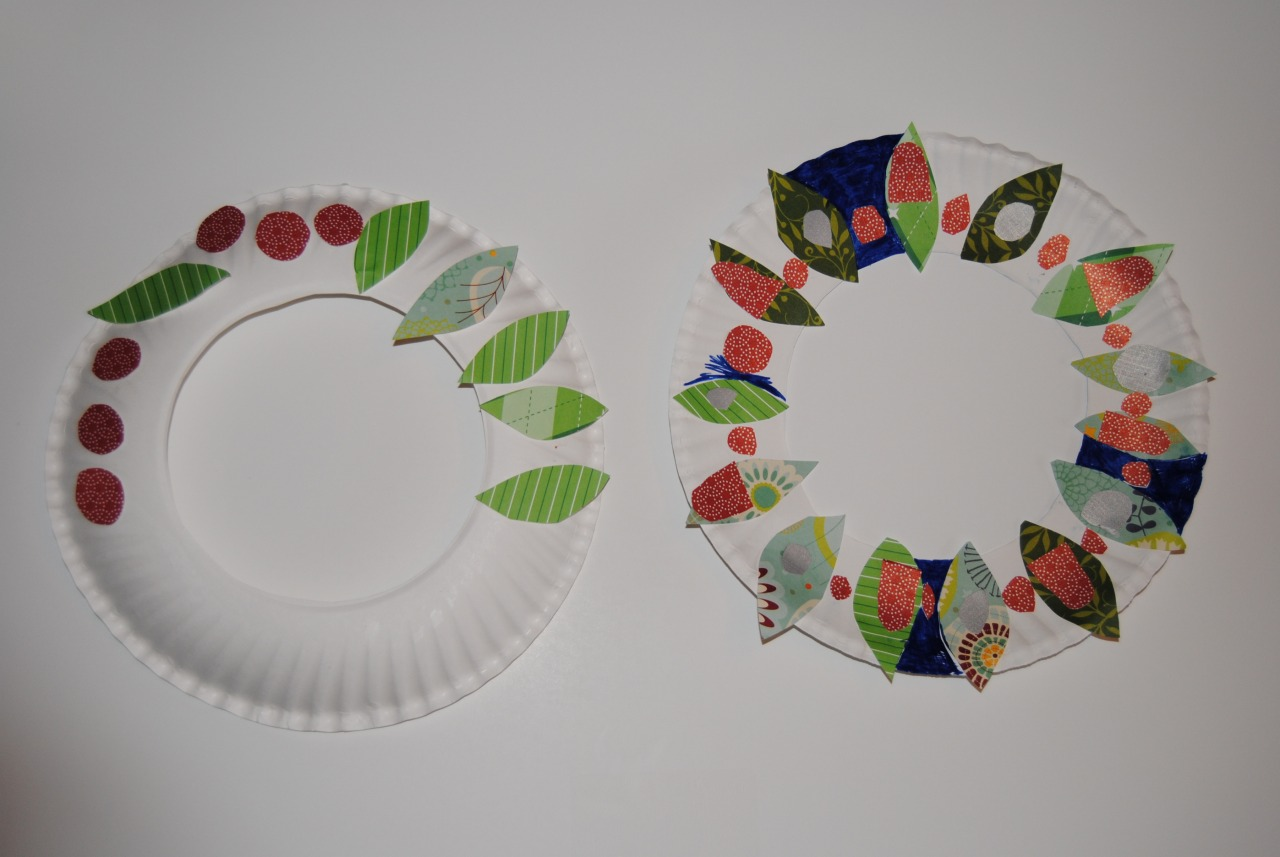 Boogaloo paper wreath craft for kids - Different craft ideas for kids ...
