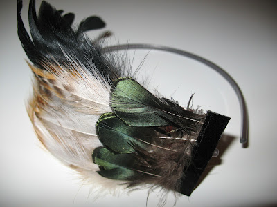 love in the afternoon feather headband
