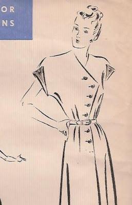 1940's day dress pattern