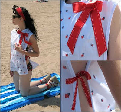 retro swimsuit cover up