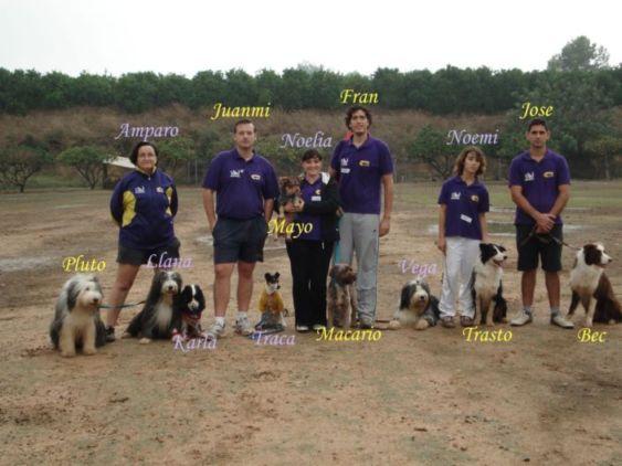 La foto del equipo de competición al completo