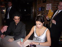 Anna and Rolando at a book-signing after one of their performances of La Bohème in Munich April 07