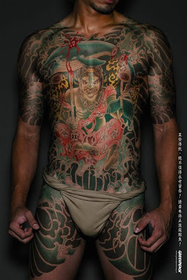 Yakuza Japanese Tattoo Style in Greenpeace