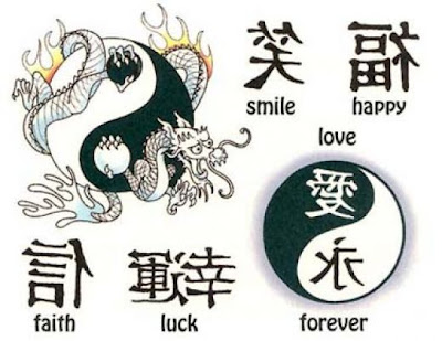 Chinese character tattoos designs