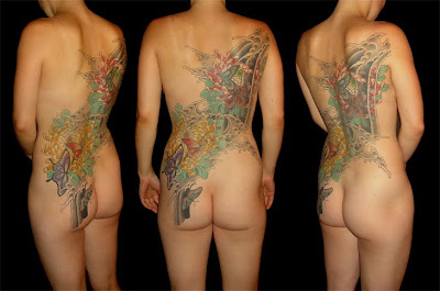 sexy tattoo, back tattoo
