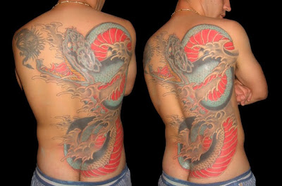 Dragon Tattoo,  tattoo men, back tattoo