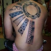 Polynesian Tattoo, back tattoo