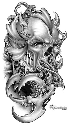 skull tattoo,  tattoo design